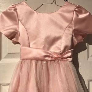 Just Darling Pink Embroidered Party/Holiday Dress